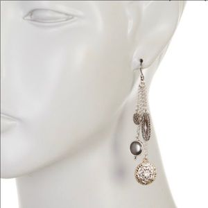 Lucky brand silver dangle charm earrings NWT
